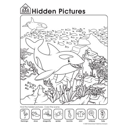 printable hidden pictures worksheets