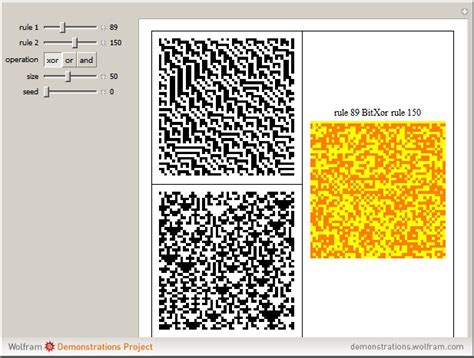 pattern formation cellular automata wolfram demonstrations project