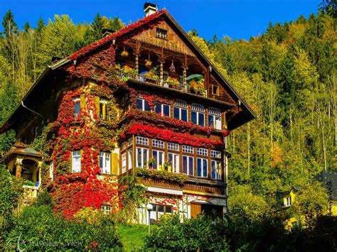 St Gilgen, St Gilgen, Austria   A beautiful house cover in bright