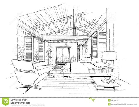 interior architecture construction landscape sketc stock illustration illustration of