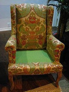 make bake re upholstering a wing back chair part