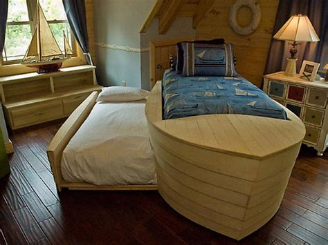 homemade boat bed kids bedroom from blog cabin 2008 diy network blog