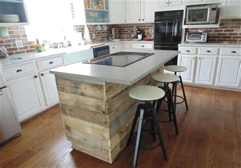 kitchen island wall diy rustic pallet wall paneling pallet furniture plans