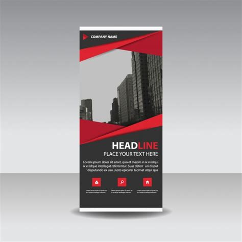 banner stand template vertical banner vectors photos and psd files free