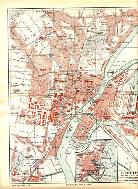 Stettin Germany Birth Records 1000 Images About Pommern Landkarten Und Stadtpl 228 Ne On