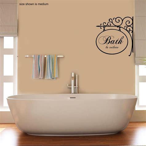 french bathroom wall art bath toilette french style bathroom wall art decal sticker