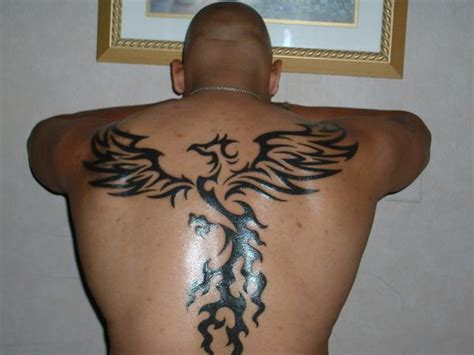 tribal bird tattoo back piece cool tattoos online
