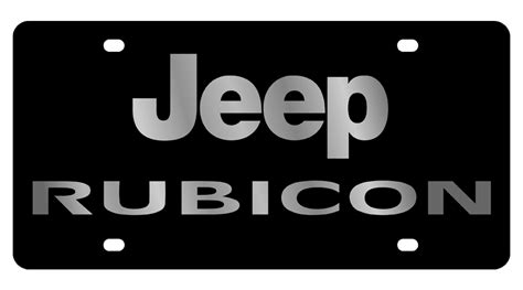 Jeep Tags Jeep Carbon Steel License Plate Rubicon Plates