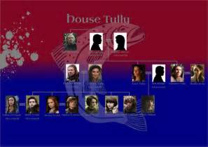 lineage chart family tree house tully of thrones home