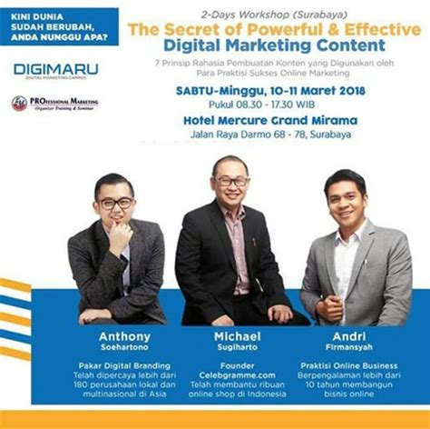 Magnet Rezeki Buku Kesuksesan workshop the secret of powerful effective digital