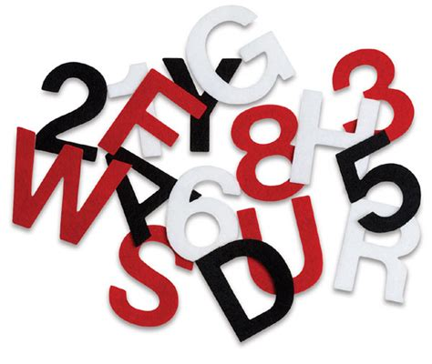 letter and number stick it felt letters and numbers blick materials