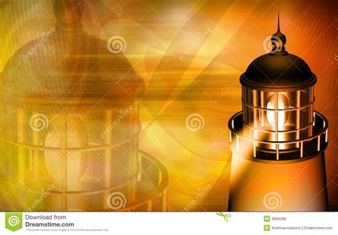 light yellow house light house with yellow light royalty free stock image image 6663396