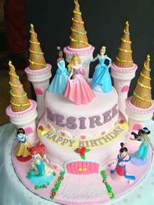 disney kuchen baking princess castle fondant cake d1