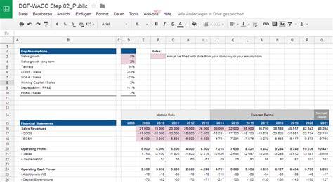 Unternehmensbewertung Mit Excel Cash Flows Berechnen Dcf Excel Template