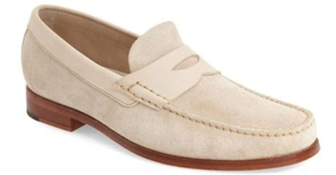 white suede loafers johnston murphy danbury loafer in for