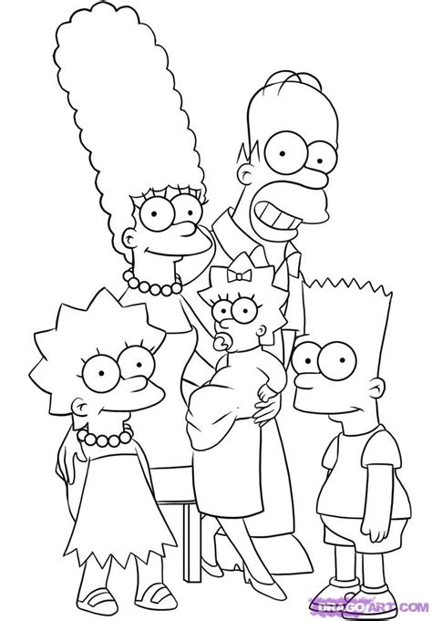 How To Draw The Simpsons On The by How To Draw The Simpsons Step By Step