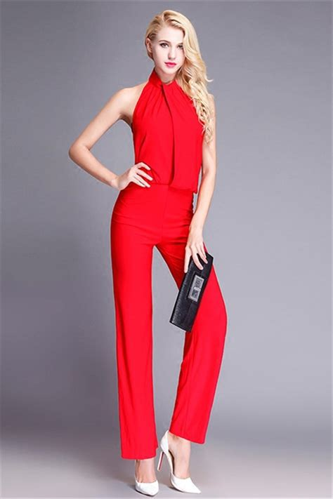 Plain Layer Jumpsuit Elegan Cantik evening jumpsuits clothing