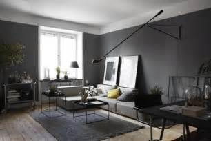 Masculine Dark Apartment Interior Design Modern Artwork For Living Room