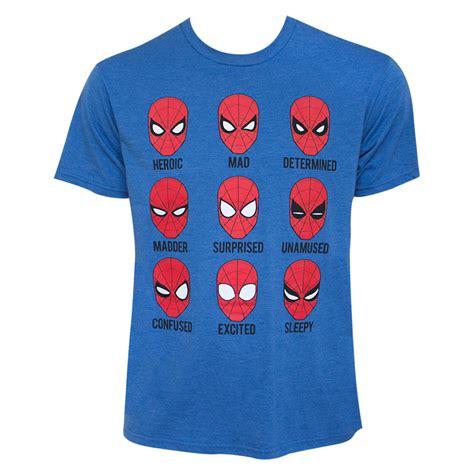 Tshirt Spederman s blue expressions t shirt superheroden