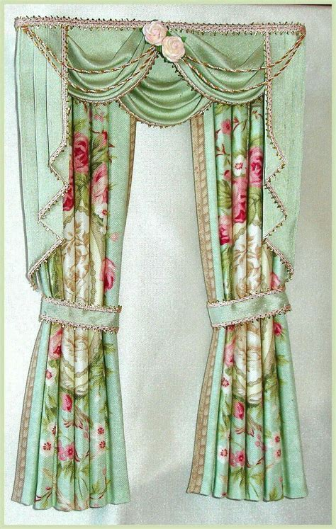 how to make dolls house curtains 22 best curtains drapes valances dollhouse miniature