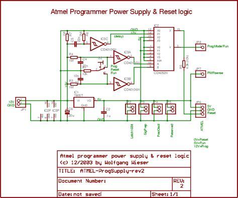 high voltage serial programming avr electronics atmel avr programming supply circuit