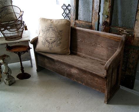 bench pew bench rustic church pew decorate pinterest
