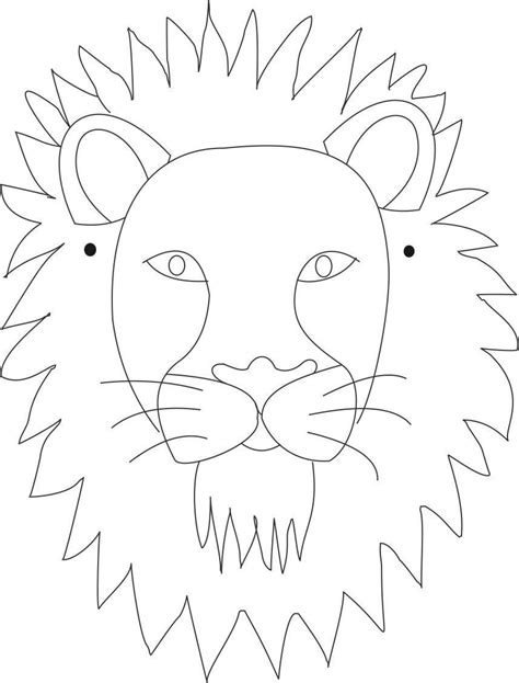 printable animal eye mask template lion mask printable coloring page for kids coloring pages