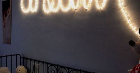 spell  words  string lights bedroom ideas