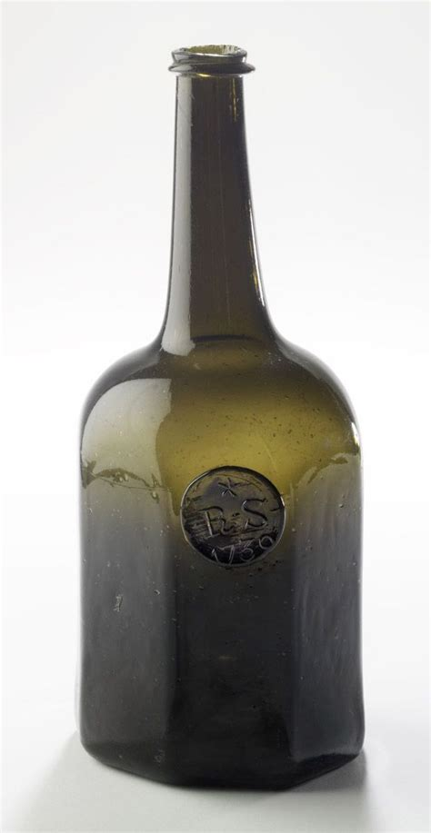Wine Vase Name by Wine Bottle Glass Inscribed Quot Sidney Breese 1765