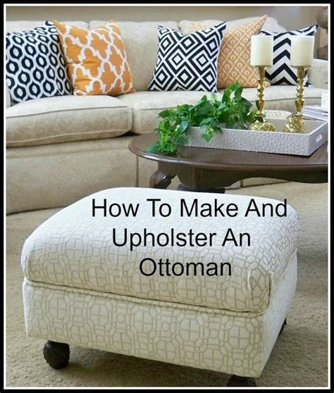 how to reupholster a pillow top ottoman best 25 diy ottoman ideas on diy storage pouf