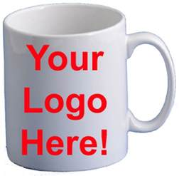 personalised mugs printed with your logo text or photo