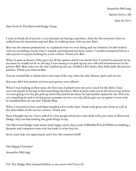 Customer Testimonial Letter Only Things To Say