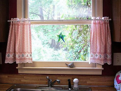 country kitchen curtain ideas curtains unique rustic linen farmhouse valance bird window