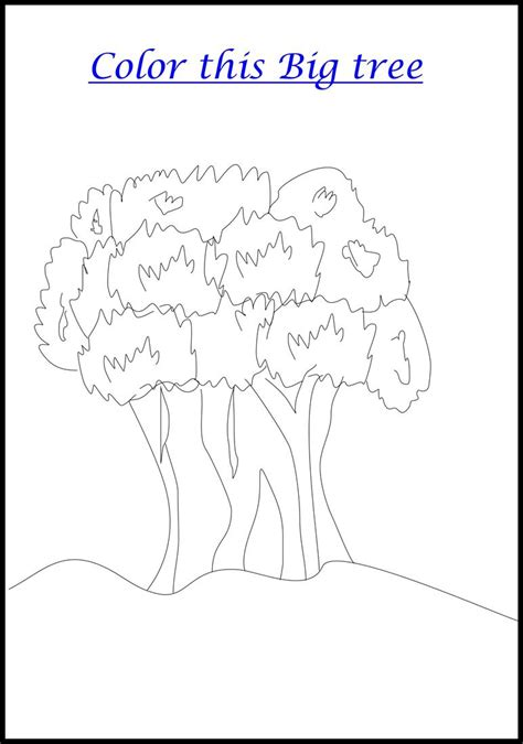 coloring pages of a big tree big tree coloring printable page for kids
