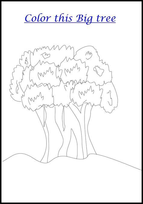 Big Tree Coloring Pages Printable Big Tree Coloring Printable Page For Kids by Big Tree Coloring Pages Printable