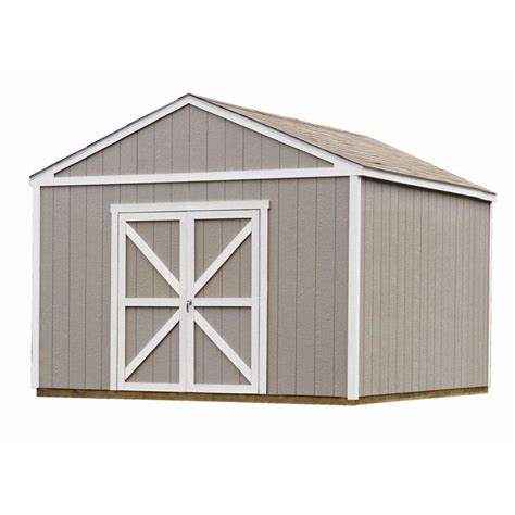 diy shed kit home depot handy home products berkley 10 ft x 10 ft wood storage
