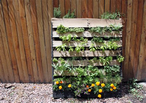 Vertical Garden Made From Pallets Diy Inspiration The Vertical Herb Garden To The Bones