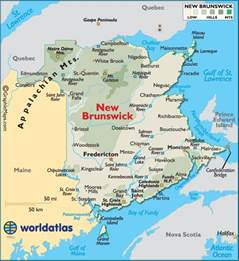 New Brunswick Canada Map by New Brunswick Canada Maps Amp Flags Pinterest