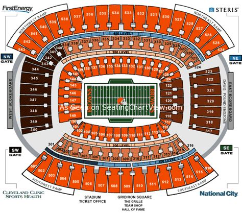 ford field contact number firstenergy stadium cleveland oh seating chart view
