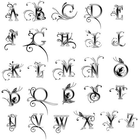 tattoo fonts with flowers research communications letterform letter form 10