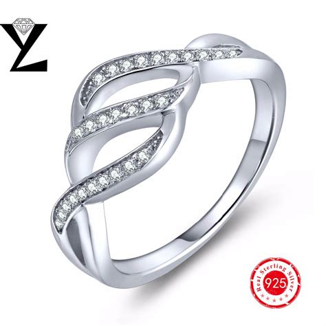 make sterling silver jewelry 925 sterling silver distorted stackable rings with cubic