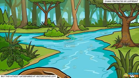 anteater   river   jungle background clipart cartoons  vectortoons