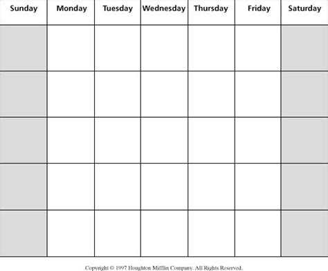 blank calendar template without dates weekly blank grid blank calendar grid projects to try