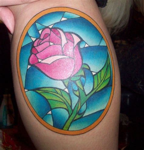 beauty and the beast rose tattoo and the beast tattoos collection