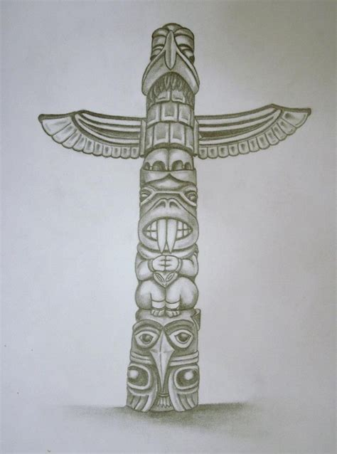 tribal totem pole tattoo designs totem pole my drawings totems and