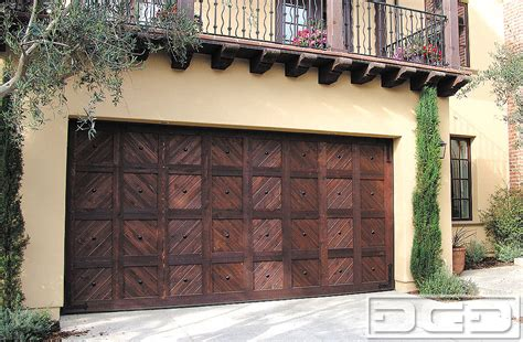 spanish colonial  custom architectural garage door