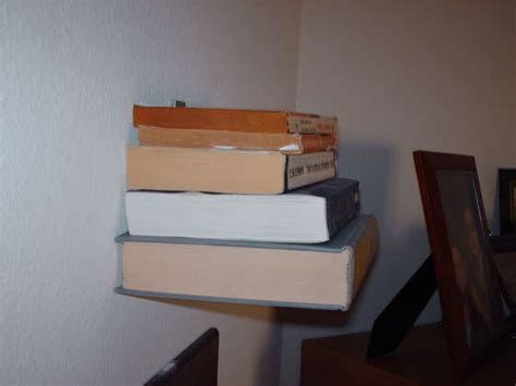 invisible diy bookshelf