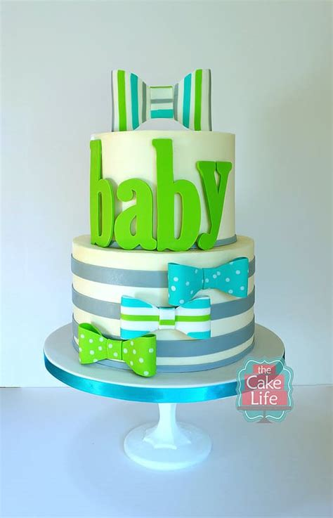 Bow Tie Baby Shower Cake by 10 Gorgeous Baby Shower Cakes Pretty My