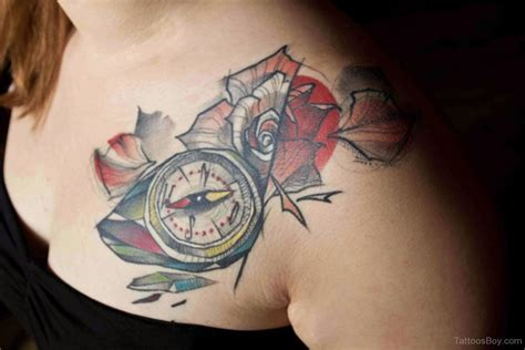 compass tattoo with flowers compass and flower tattoo tattoo designs tattoo pictures