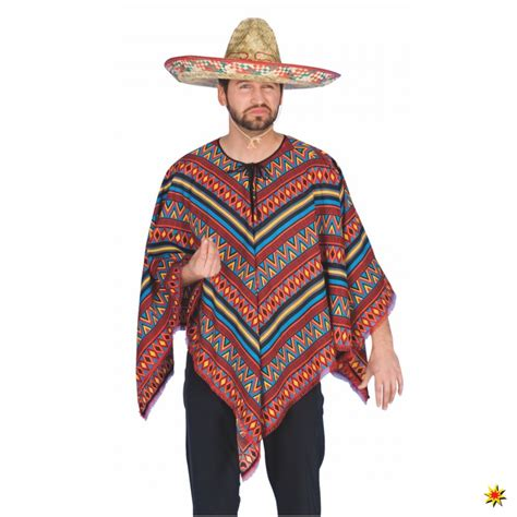 kostuem mexikaner poncho bunt krause sohn onlineshop
